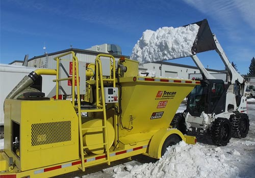 snow removal melting machine
