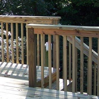 Treated railing